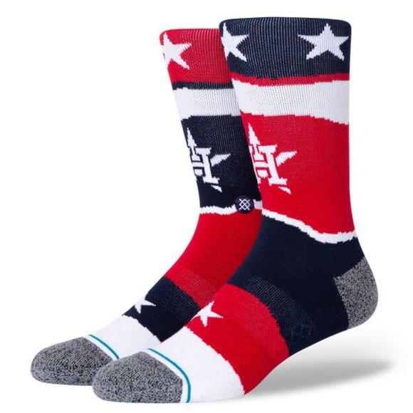 Stance Houston Astros Americana Socks Navy Blue L